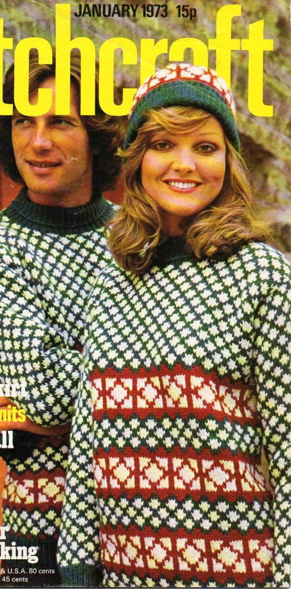 3a071672c8f womens   mens fair isle sweater   hat knitting pattern pdf