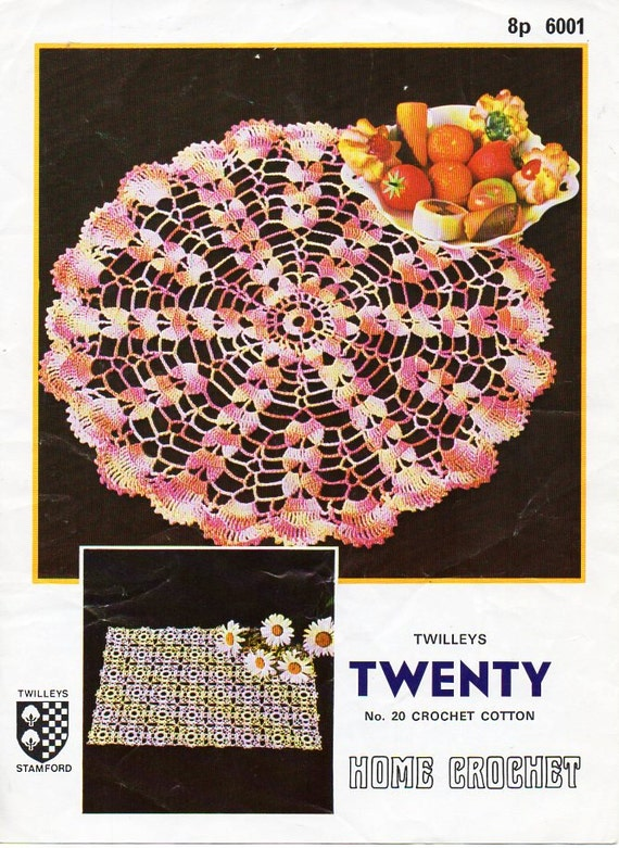 Crochet Doily Pattern Crochet Pattern Pdf Doilies Round Mat Etsy