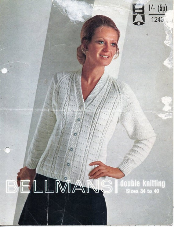 "42/"" Knitting Pattern Ladies Classic Cardigan Easy DK  32/"""