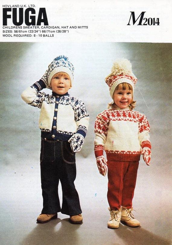 41024fd5874 vintage baby childrens fair isle cardigan sweater knitting