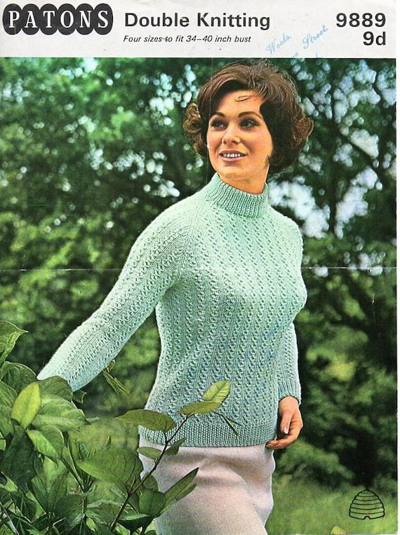 87b6c7061 Womens sweater knitting pattern pdf womens turtle neck jumper