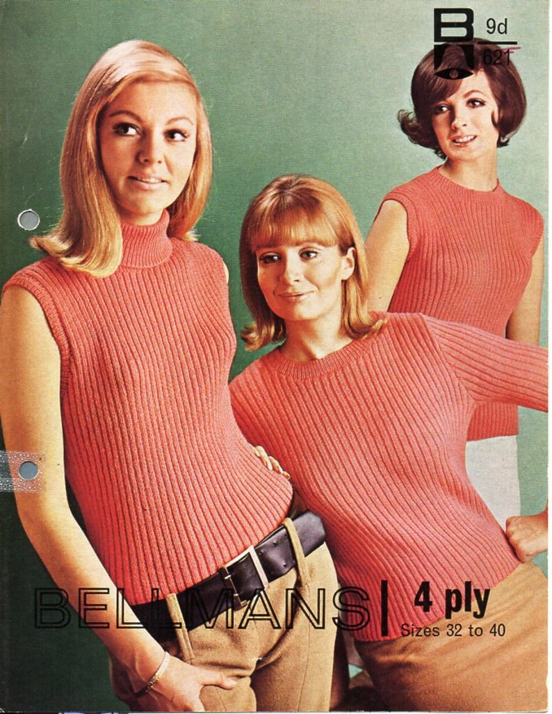 c7adbf22aa58 Womens sweater   tops knitting pattern pdf 4ply ladies ribbed