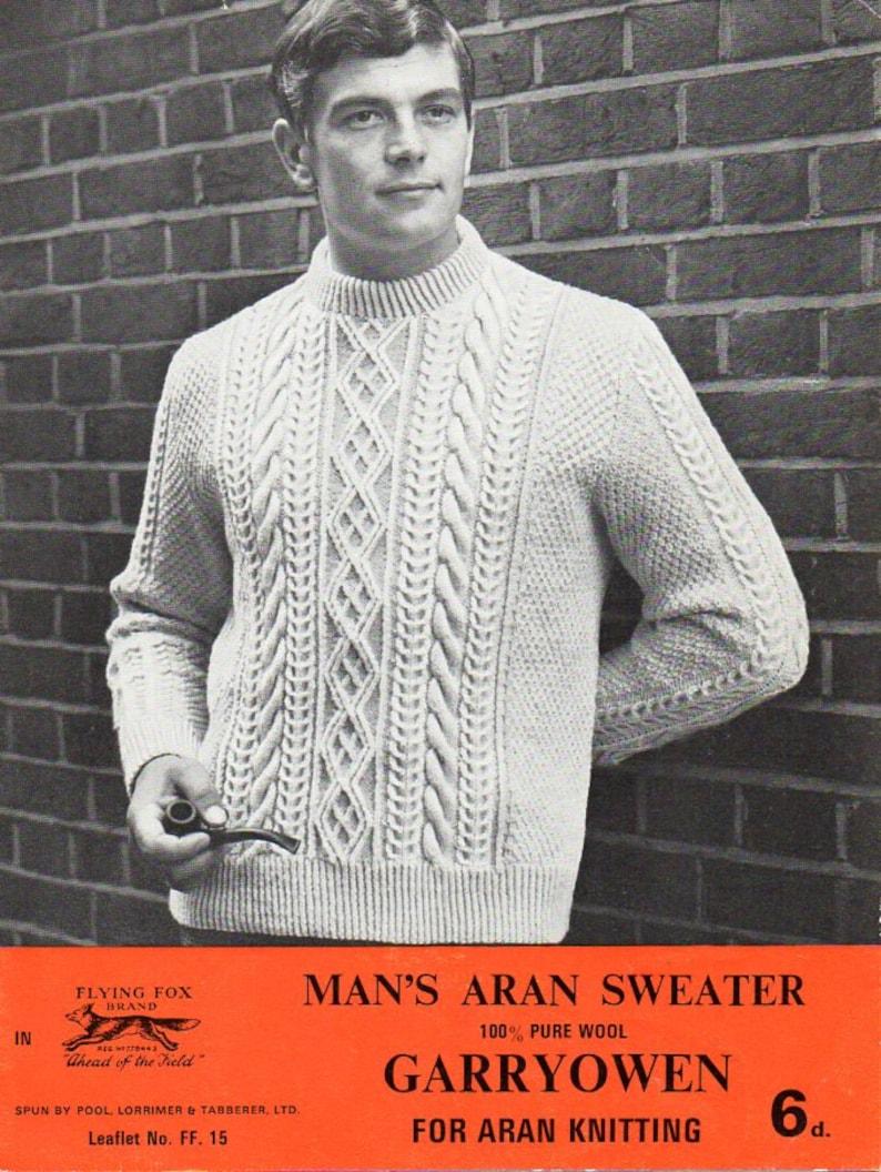 7f4c6fd7c6c068 Mens aran sweater knitting pattern pdf mens aran jumper crew