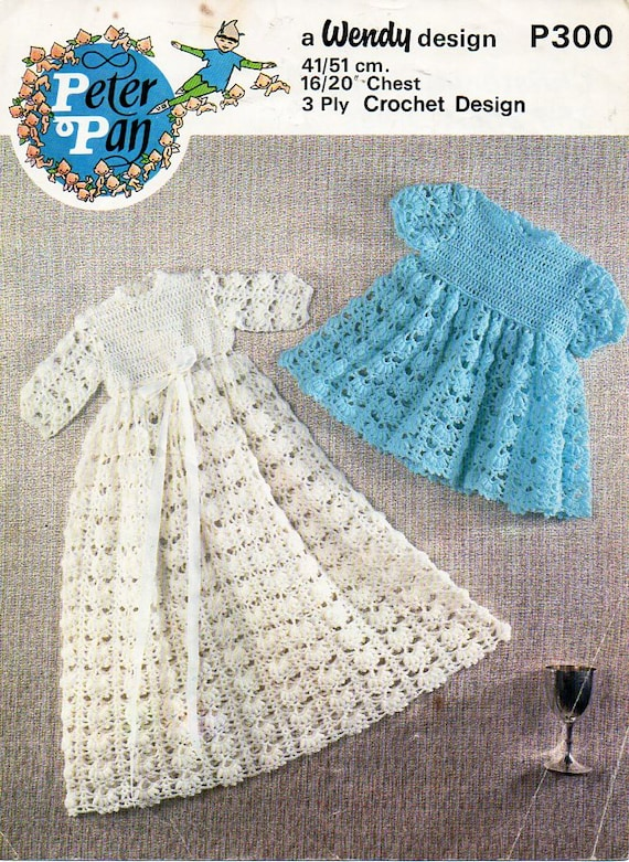 baby crochet Christening gown pattern corchet pattern pdf 3ply ...