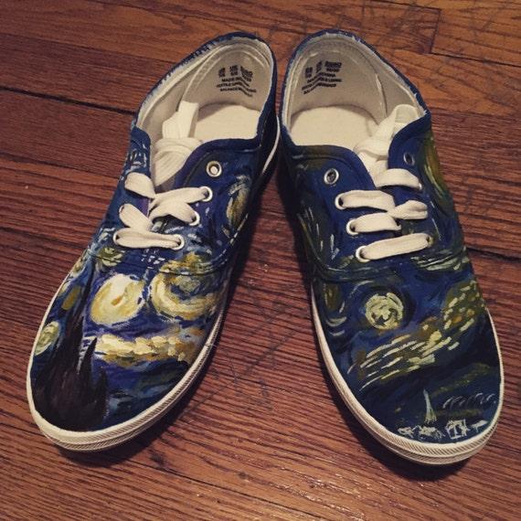 Benutzerdefinierte Sternennacht Schuhe gemalt