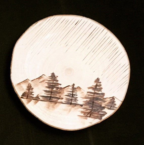 Forest and Mountains Ornament or Coasters