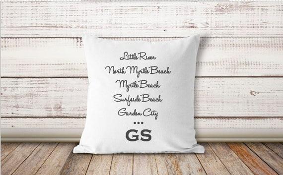 Grand Strand Pillow Myrtle Beach Pillow Myrtle Beach Decor Etsy