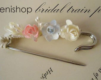 Bridal train pins, wedding gown acccessories