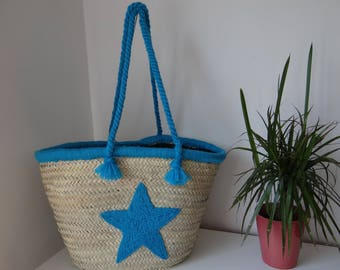 Basket is MarocSUN red hand embroidered lace - original.