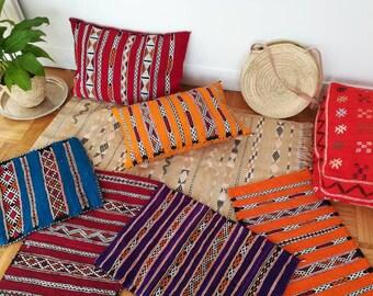 Kilim pillow, hand knit-bohemian kilim-