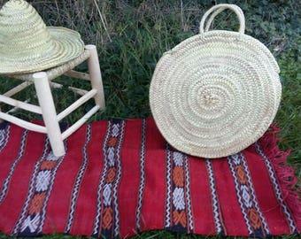 Natural basket round Tote ready to wear - original Marrakesh Morocco.