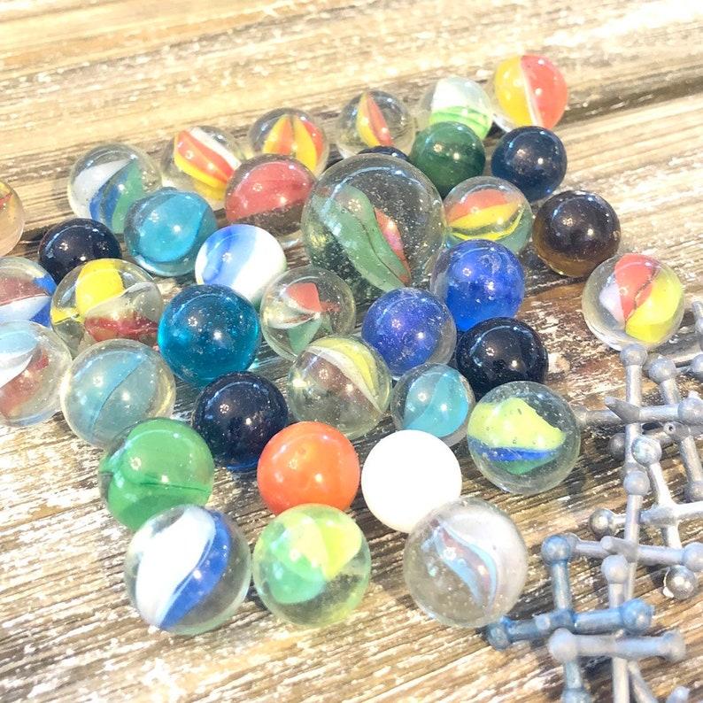 37 RARE Vintage Marbles Vintage Akro Agate Slags Marble image 0