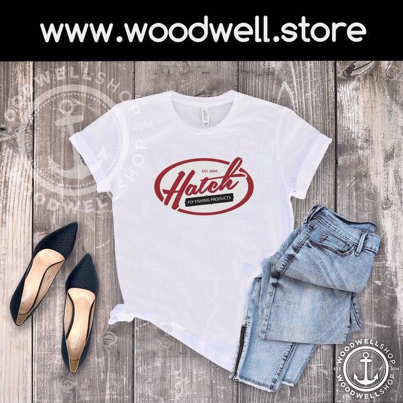 Hatch Tee Fishing tshirt Retro Shirt Fun shirts Gift for her image 0