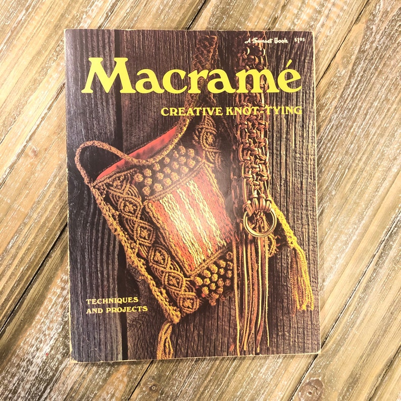 Vintage 1971 Sunset Book  Macrame: Creative image 0