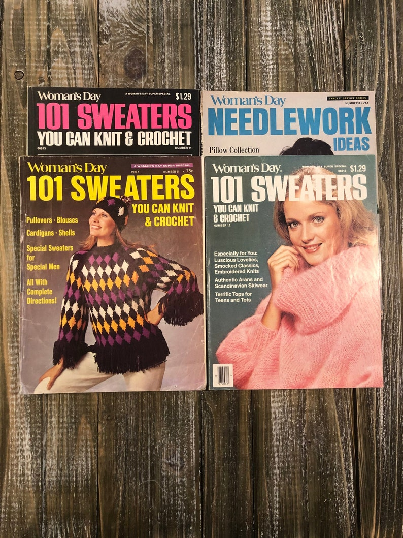 Womans Day Magazines 101 Sweaters Fashion and Crafts image 0