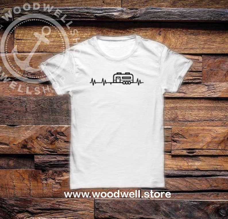 Camping Shirt Camp Tee Adventure Shirt Fire Place Shirt image 0