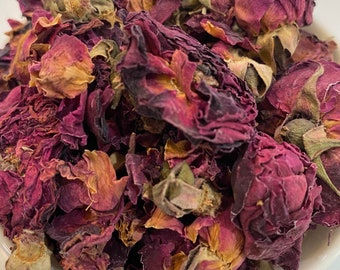 Organic Dried Rose Bud Petals, Edible Rose Bud Petals, DIY Dried Rose Bud Flowers, WoodWell® Etsy Shop