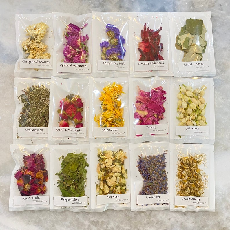 Dried Flower Sample Size Pouches for Tea Crafts Soap image 0
