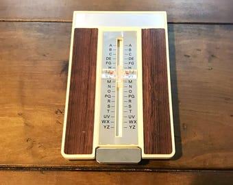 Vintage Address Book File - Plastic Address Organizer