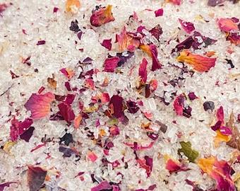 Rose Cannabis Hemp Seed Oil Bath Salts, Cannabis Hemp Oil Bath Soak, Rose Scented Bath Products, Stress Relief Bath Salts, WoodWell® Shop