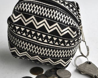 Storage pouch  key holder Clutch , Zipper  pouch , small money pouch ,holiday gift , mothers day gift, fathers day gift , Christmas gift