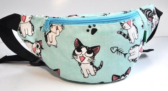 Fanny Pack 1 zipper Cats bum bagwaist bagbelt baghip  456a75077b3ec