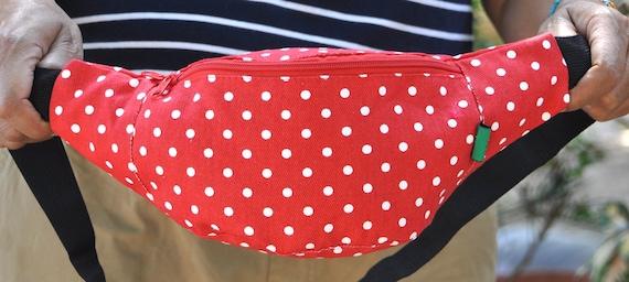 Fanny Pack 4 kids red white dot bum bagwaist bagbelt  335dbef66ac02