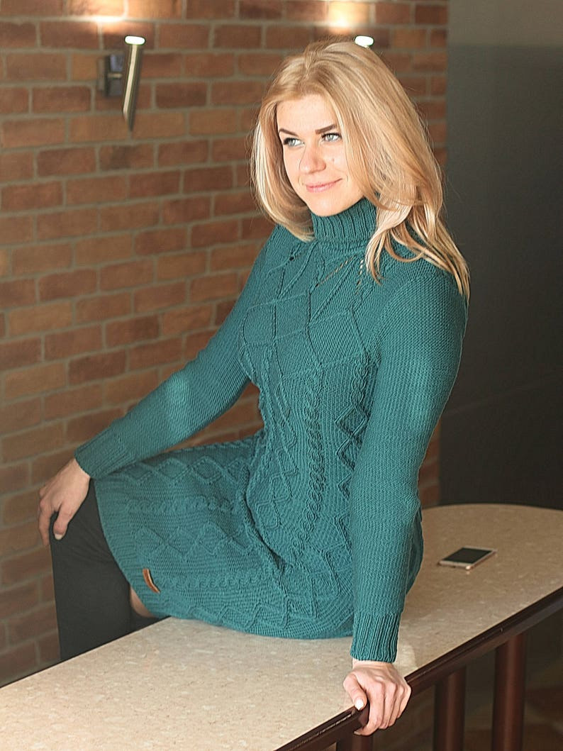 01c9a8be94 Custom hand knit aran style dress tailor-made Victoria s