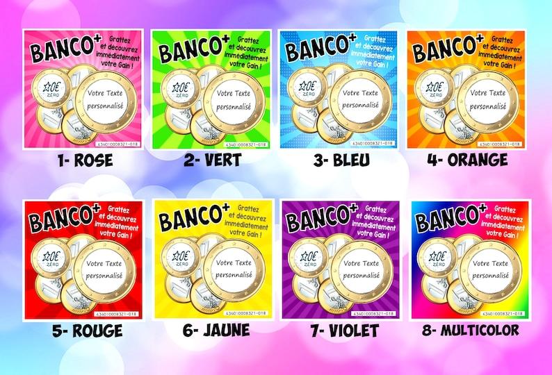 BANCO : 1 CARTE jeu à gratter Mini Format 7 x 7 cm à Mélange des cartes - Créatrice ETSY : DecosGinieCreations