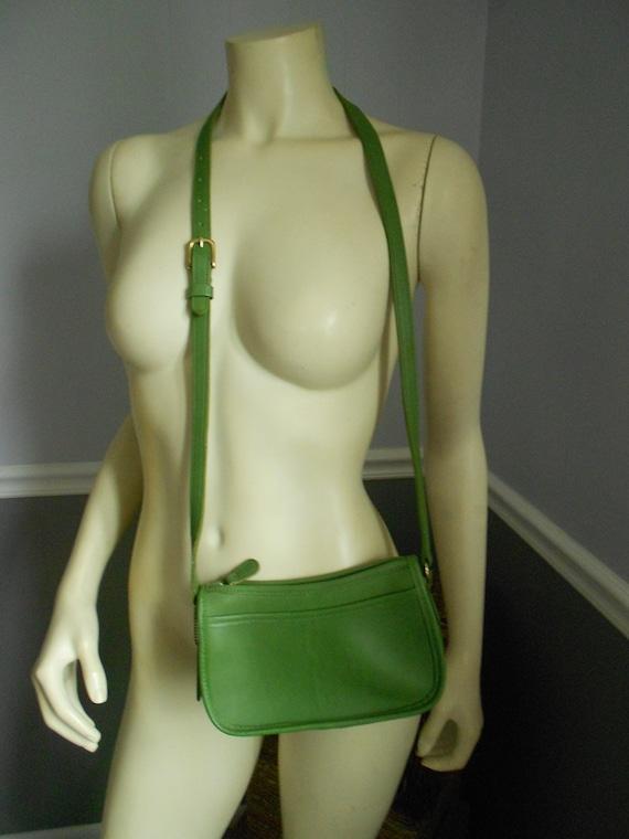 Coach Lime Green Wendie Bag /  Leather Shoulder Ba
