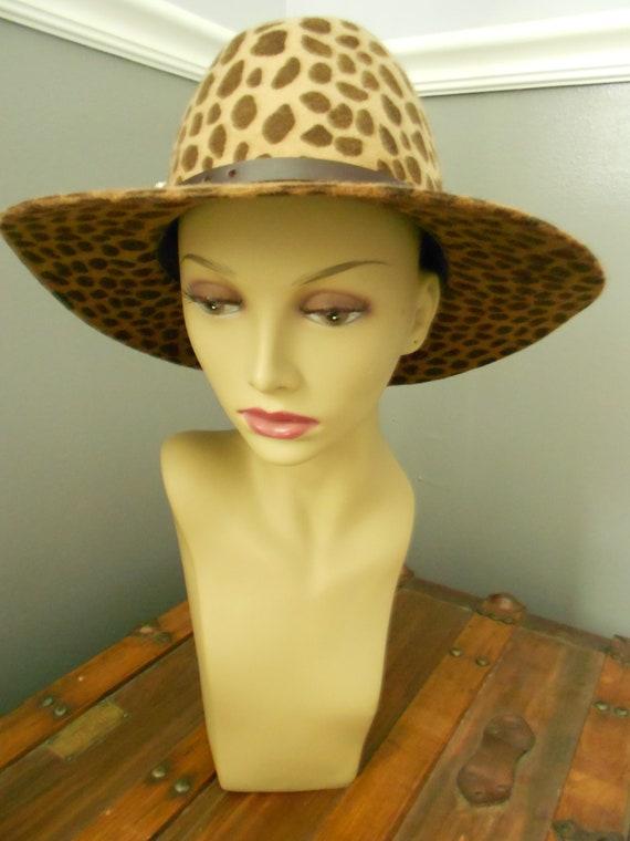 Lola Leopard Print Felt Hat