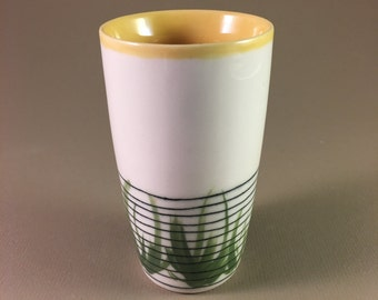 pottery cup, porcelain, no handle, tumbler, tea, coffee, iced tea, mother's day gift teacher gift