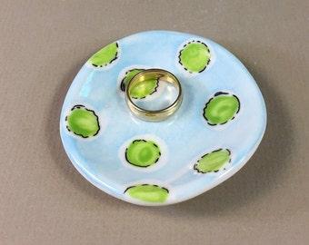 pottery wedding ring dish, bride gift, handmade tea bag rest, ceramic teabag holder, spoon rest, fork rest, chopstick rest, soy sauce