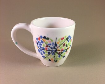 pottery mug, Porcelain, wheel thrown, teacher gift, admin gift, mother's day gift, coffee, tea