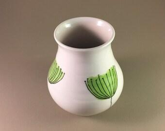 Porcelain vase, pottery, handmade, wedding gift, mother's day gift, ceramic