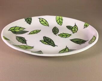 pottery platter, porcelain, slab built, hand made, handmade, hand built, ceramic