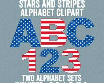 stars and stripes alphabet clipart usa flag letters clipart usa red white blue letters clipart commercial use american alphabet clipart