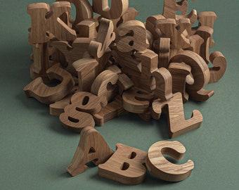 Extra large uppercase & lowercase alphabet Montessori toys Homeschool