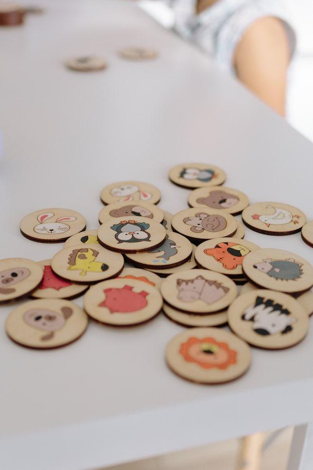 Memory-Spiel Erste Tiere Matching-Spiel Montessori | Etsy