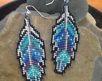 Painted Feather 2 Earrings