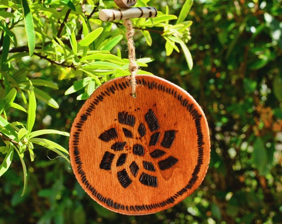 "Rustic style ""Flower"" wooden decorations."