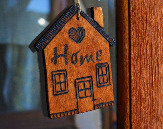 "Plywood rustic style ""Little house"" ornament."