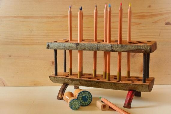 """Wooden desk organizer """"Due""""."""