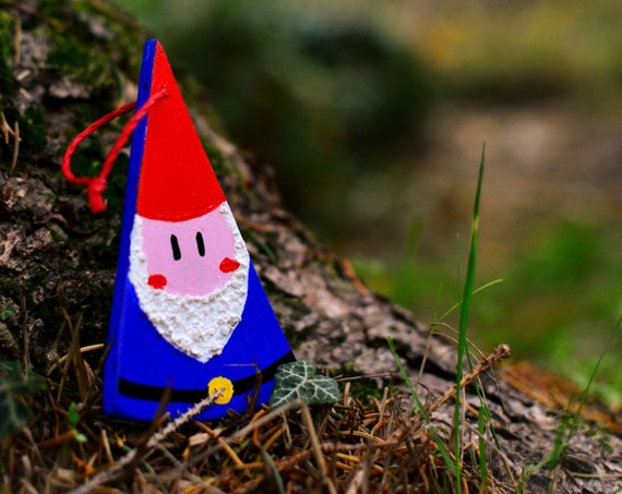 "Wooden ""Gnome"" ornament."