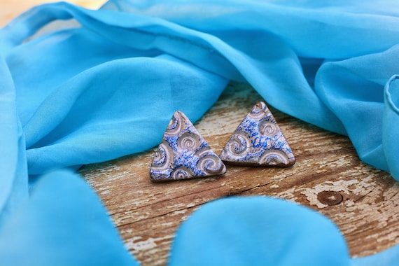 "Polymer clay ""Kalt"" earrings."