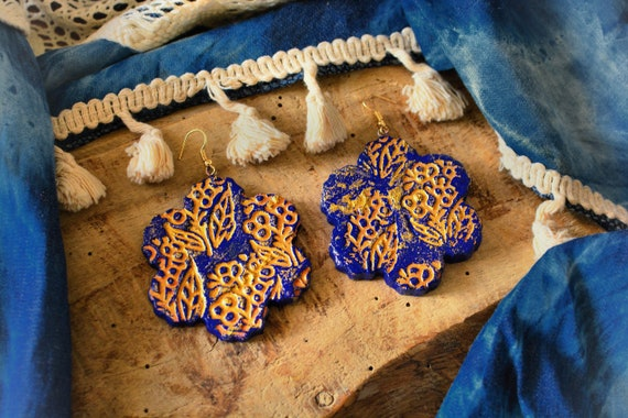 "Polymer clay ""Persia"" earrings."