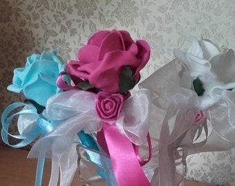 Flower wand,Bridesmaid wand,Flower girl wand,Red flower wand,Fairy wand,Pink flower wand,Blue flower wand,Yellow wand,White wand,Lilac wand