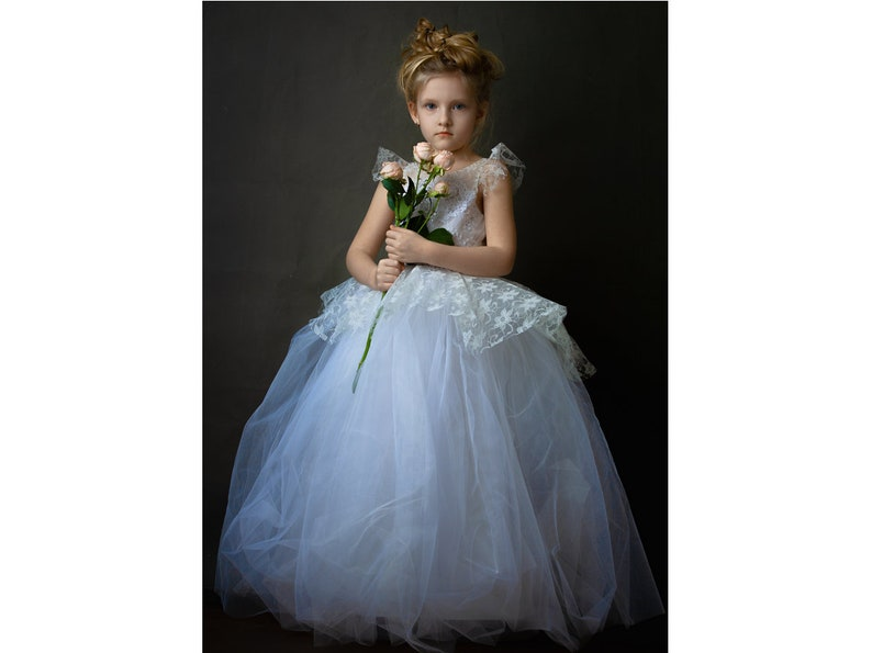 6dd68909aea White tulle flower girl dress White tutu Dress Bridesmaid