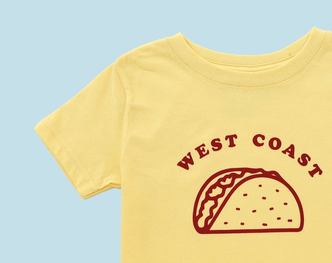 Featured listing image: WEST COAST TACO Toddler Tee - Yellow