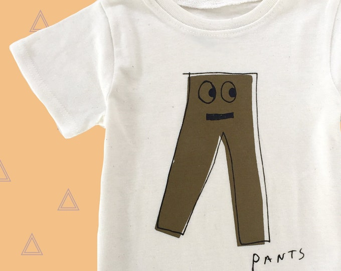Featured listing image: PANTS - Toddler Tee - White